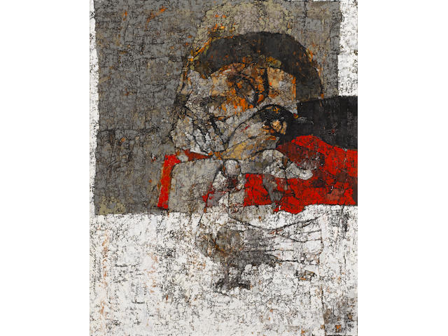 Jamil Naqsh (Pakistani, born 1938) Untitled, 1978 29 1/2 x 23 1/4in (75 x 59cm)