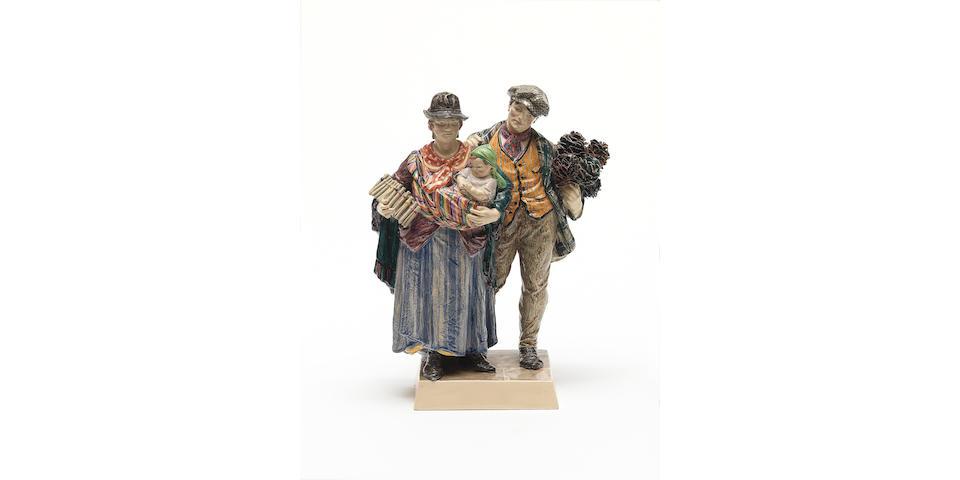 Charles Vyse `The Gypsies' a good double group, 1924