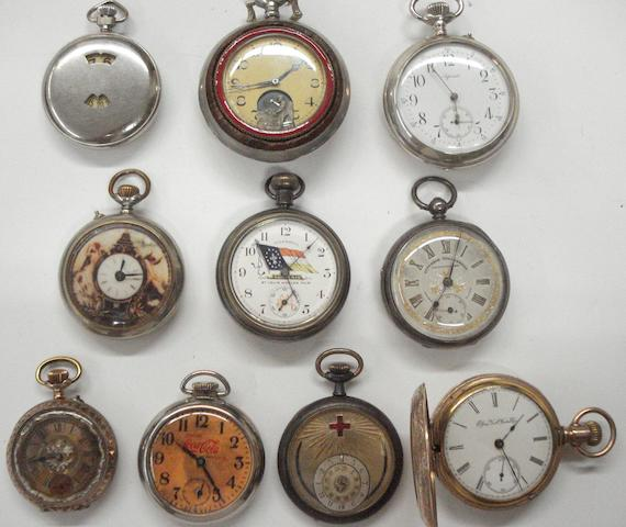 A lot of 10 various pocket watches  10