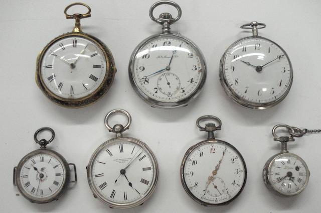 A lot of 7 various pocket watches  7