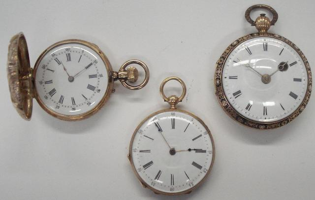 A lot 3 various fob watches 3