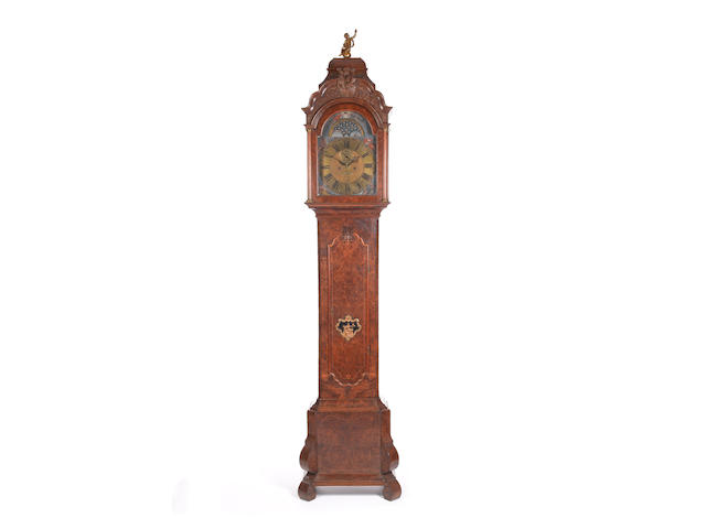 A mid to late 18th century Dutch burr walnut longcase clock  R.S. Cresp