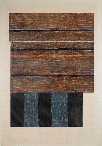 Sean Scully (Irish, born 1946) Standing II Woodcut