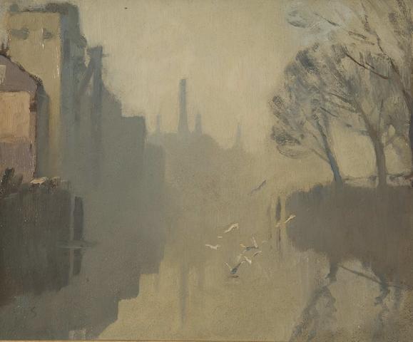Edward Seago R.B.A., R.W.S. (British, 1910-1974) River Yare, Norwich