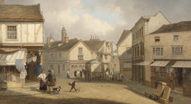 Thomas Smythe (British, 1825-1906) Silent Street, Ipswich (And another 'St Nicholas Street' - a pair)