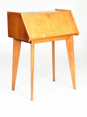 Neil Morris of Morris Glasgow, An oak bureau, designed and executed circa 1955