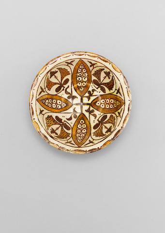 A fine Abbasid lustre pottery Bowl