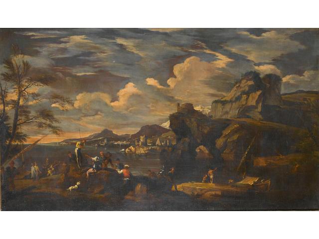 Studio of Jakob de Heusch (Utrecht 1657-1701 Amsterdam) A Mediterranean coastline