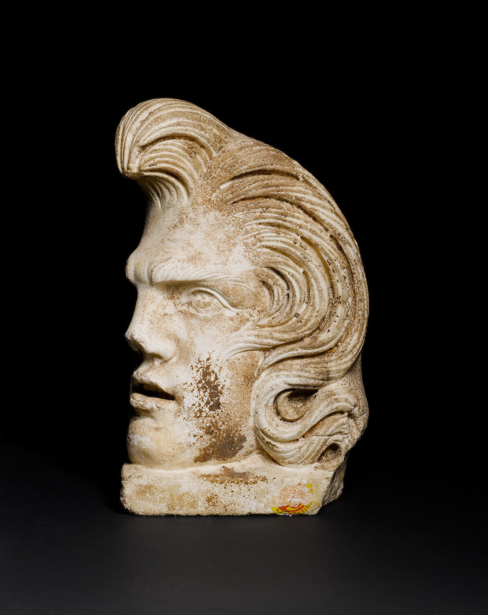 A Roman marble acroterion