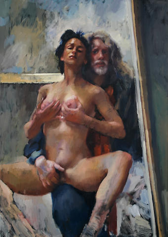 Robert O. Lenkiewicz (British, 1941-2002) Self portrait with Yana