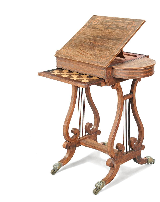 A good Regency rosewood work table circa 1810