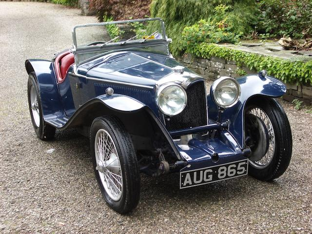From 41 years in present family ownership,1935 Riley 9hp Imp Two Seater  Chassis no. 6025510 Engine no. 54474