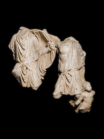 A Roman marble figural relief