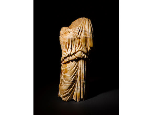 A Roman alabaster draped female torso