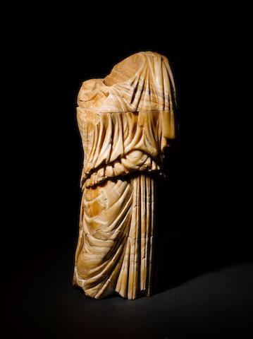 A Roman alabaster draped female torso