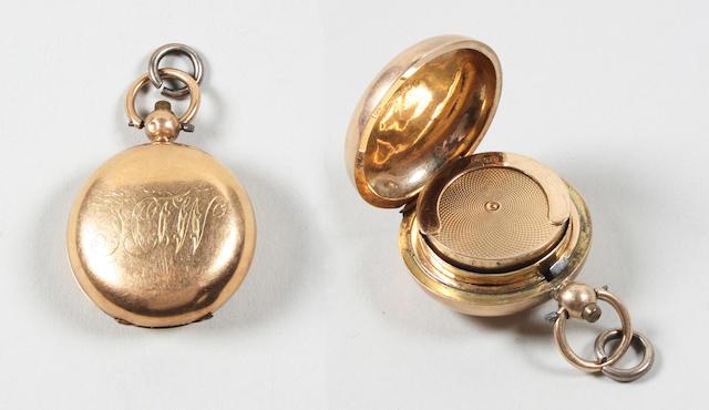 A Victorian 15 carat gold Sovereign case Birmingham, 1894,