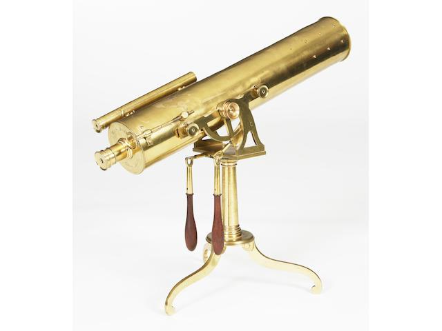 A 18th century Brass refracting telescope W and S Jones 30 Holburn London