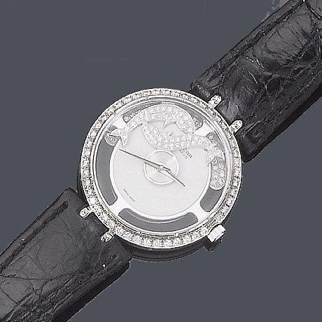 A diamond wristwatch, by Sarcar