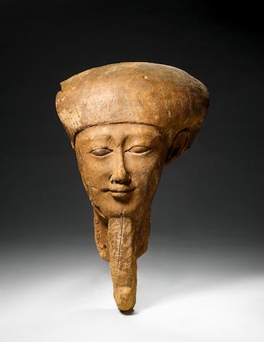 An Egyptian large wooden face mask