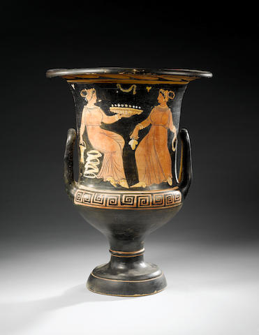 A Campanian red-figure calyx krater
