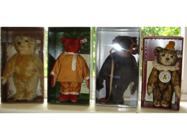 Four limited edition Teddy bears 4