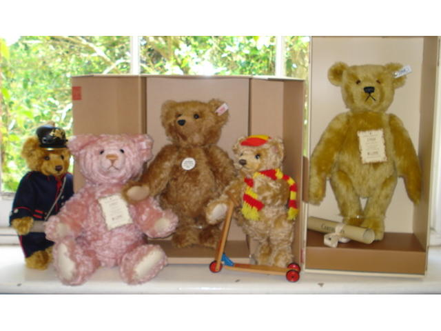Five limited edition Teddy bears