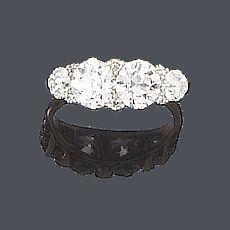 A diamond four-stone ring