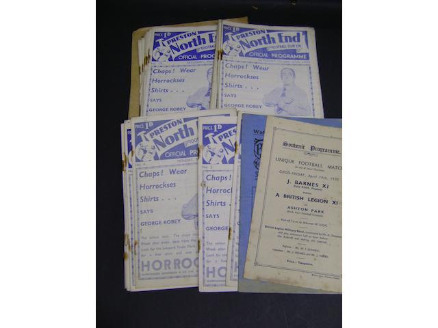 1934/35 Preston programmes