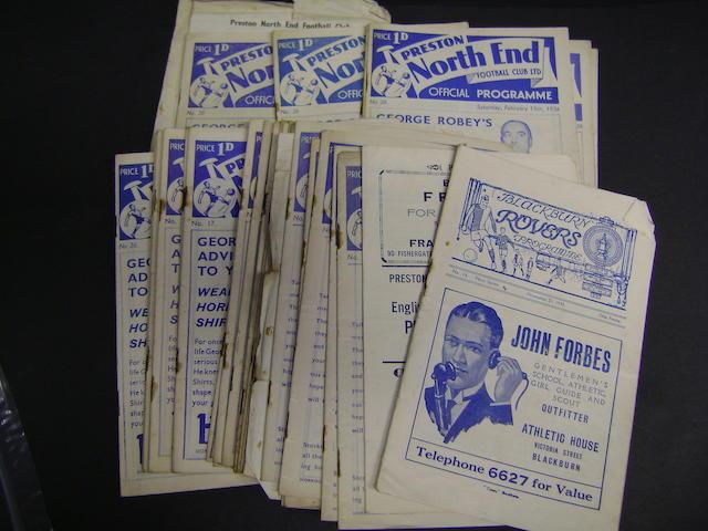 1935/37 Preston programmes