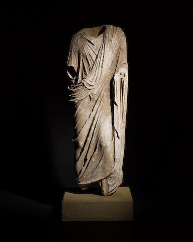 A large Roman marble togatus figure
