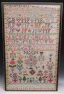 A Victorian stitched sampler,Mary Bews