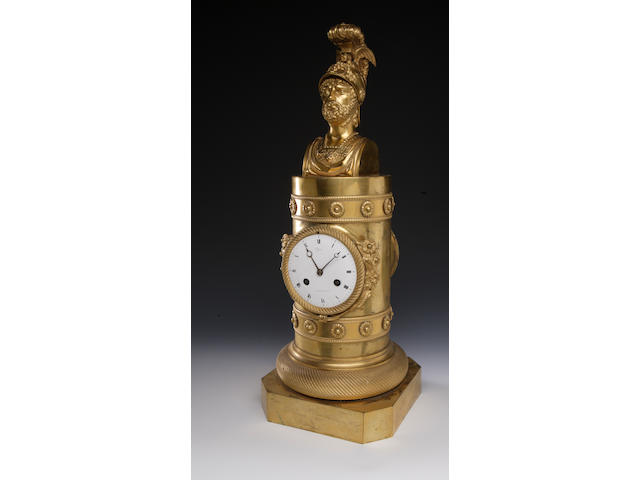 A 19th century French gilt mantel clock