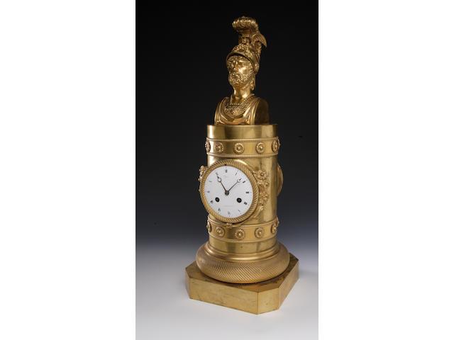 A 19th century French gilt mantel clock