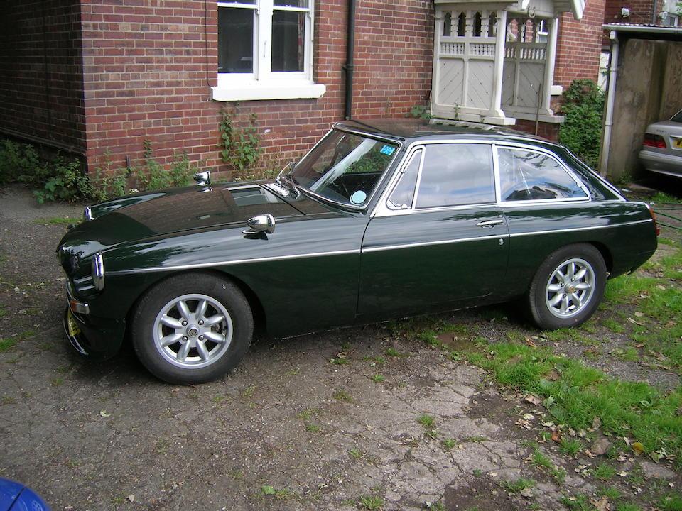 Bonhams : 1967 MGB GT Coupé Chassis no  GHD3124946 Engine no