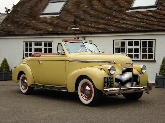 1940 Chevrolet KA Special DeLuxe Convertible Coupé  Chassis no. 14 KA 0435894 Engine no. 2939527