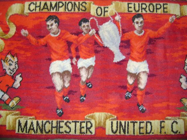Manchester United European Champions Rug