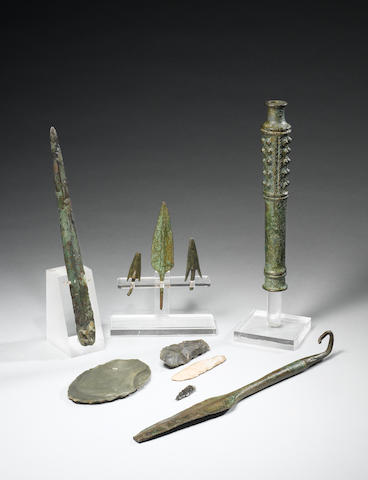 A group of Persian and Egyptian weapons and implements 10
