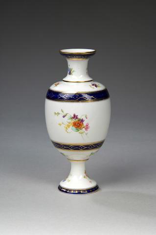 A rare Royal Worcester experimental porcelain vase circa 1896