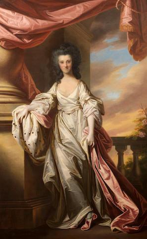 Francis Cote (London 1726-1770) and Thomas Gainsborough (Sudbury 1727-1788) Portrait of Anne, Marchi