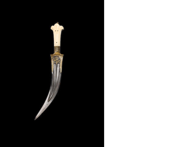 A Mughal ivory-hilted steel Dagger Northern India, 18th Century