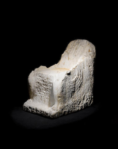 A Roman marble dedicatory chair