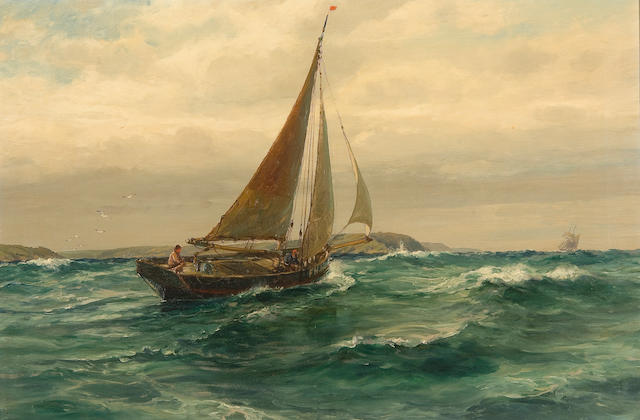 "Arthur Wilde Parsons (British, 1854-1931) ""Off St Anthony's Light, Falmouth"""