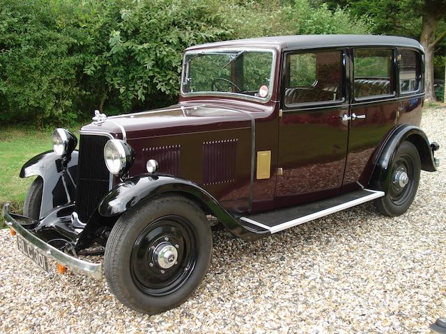 1934 Armstrong-Siddeley 12hp Saloon  Chassis no. 90133 Engine no. 19458