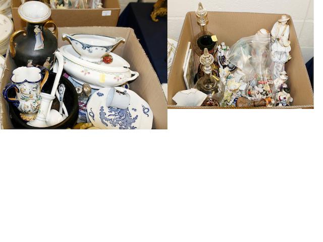 A large quantity of assorted ceramics and glassware