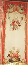 A pair of 19th Century Aubusson tapestry Entre Fênetres 294cm long x 98cm wide