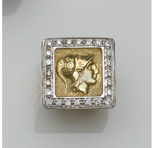 A diamond set dress ring,