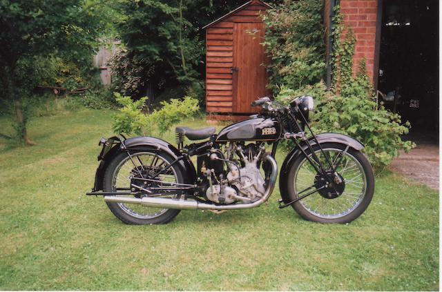 1935 Vincent-HRD 500cc Series-A Meteor  Frame no. D110/6 Engine no. M249
