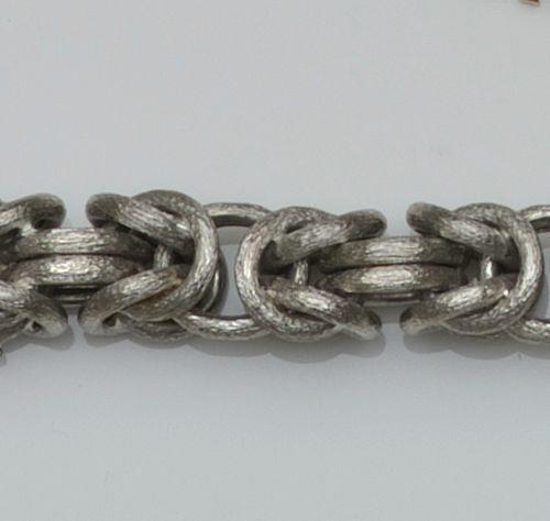 An 18ct white gold bracelet