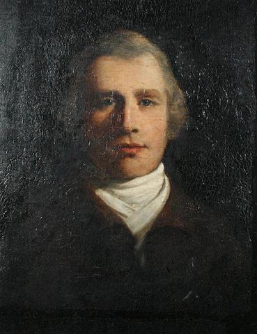 Circle of John Hoppner (London 1758-1810) Portait of a gentleman,