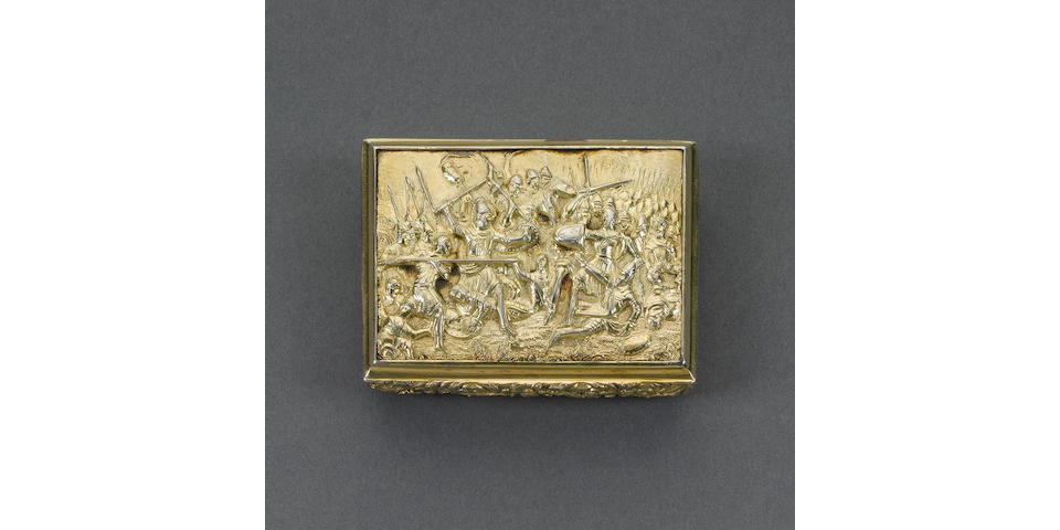 A George IV silver-gilt snuff box, by Thomas Shaw, Birmingham 1828,